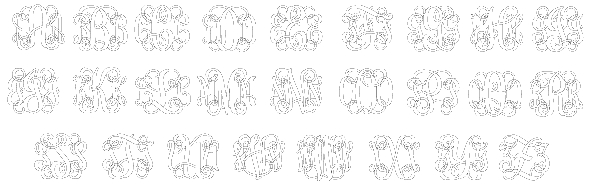 Traditional Monogram Font