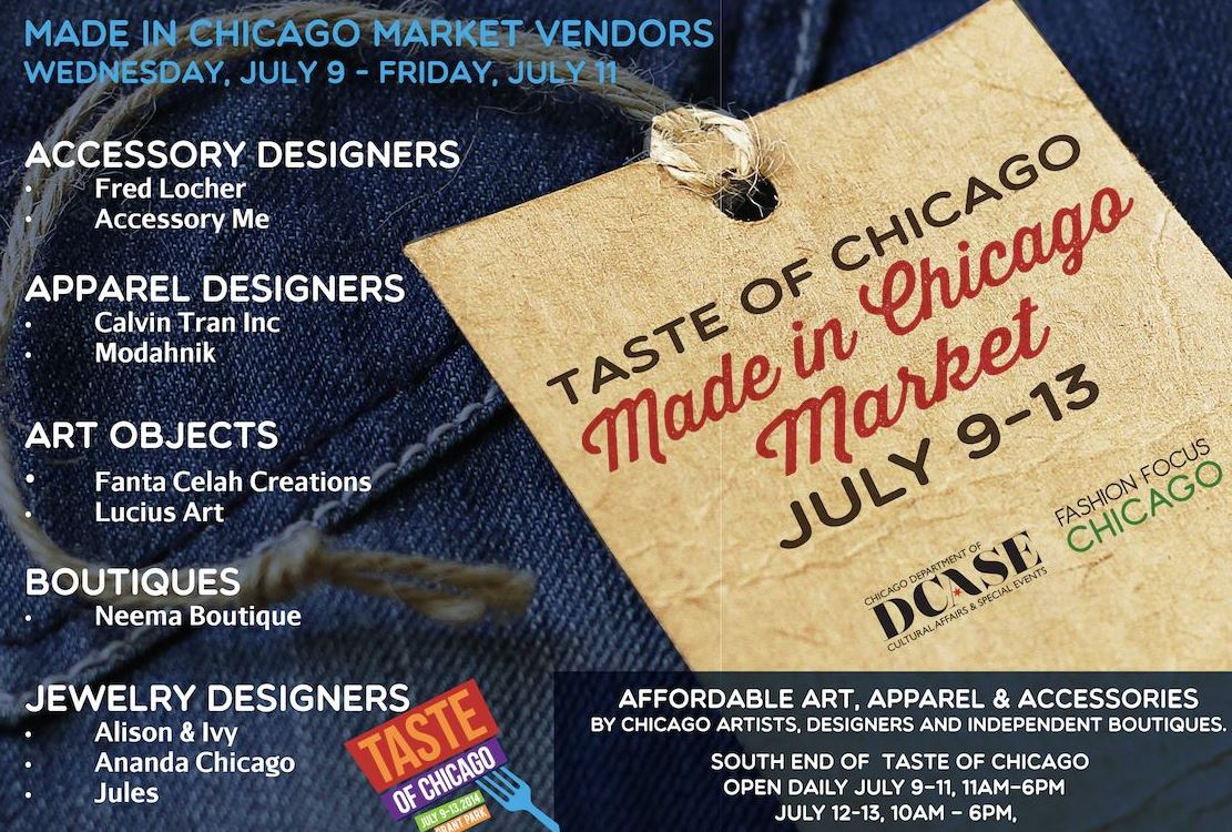 Made In Chicago Taste of Chicago Flyer